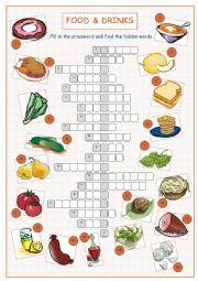 Food & Drinks Crossword Puzzle