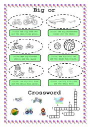 English Worksheet: BIG or SMALL?