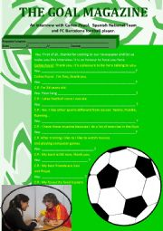 English Worksheet: Soccer Stars Interview