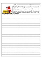 English Worksheet: Compound Sentences Activity