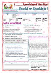English Worksheet: ADVISABILITY AND OBLIGATION IN THE PAST / MODALS