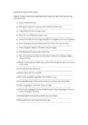 Passive voice exercises 2o bachillerato