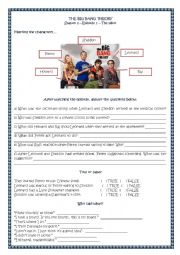 English Worksheet: The Big Bang Theory - Season 1 - Episode 1