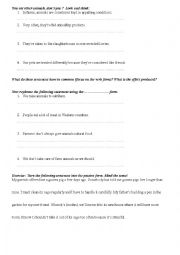 English Worksheet: passive voice - look and think with exercises  (vegetarianism)