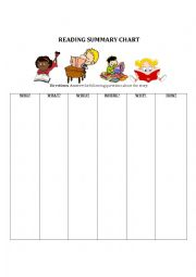 English Worksheet: Summarizing Chart