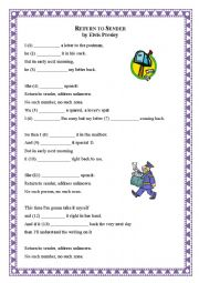 English Worksheet: Song: Return to Sender (Elvis Presley)