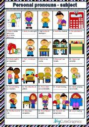 English Worksheet: PERSONAL PRONOUNS - SUBJECT
