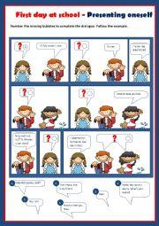 English Worksheet: Introducing oneself