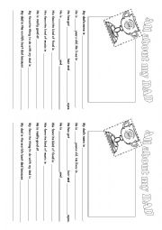 english worksheets all about my dad father s day. Black Bedroom Furniture Sets. Home Design Ideas