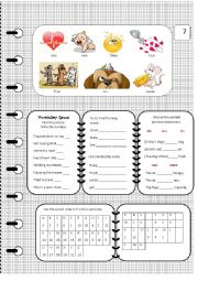 English Worksheet: The Lazy Cat Sat final 2 worksheet pages
