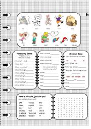 English Worksheet: A book for elementary with worksheets Page 6