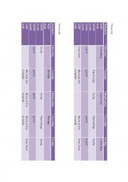 English Worksheet: Sarah�s Schedule Information Gap