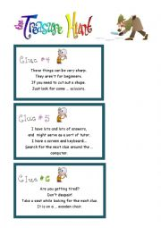 English Worksheet: The treasure hunt 2