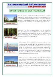 English Worksheet: San Francisco Tours