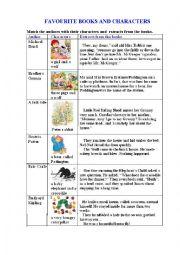English Worksheet: KIDS� FAVOURITES