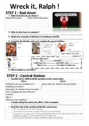 English Worksheet: Wreck it, Ralph!