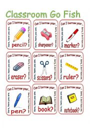 Can I Borrow / Classroom Items / Go Fish 1/2