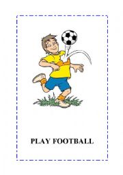English Worksheet: Sports flashcards. 10 flashcards.  editable