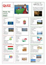 English Worksheet: Hungary - Quiz