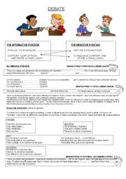 English Worksheet: How to do a debate.