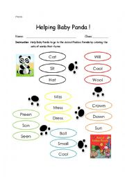 English Worksheet: Helping Baby Panda!