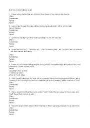 English Worksheet: Anorexia/bulimia quiz