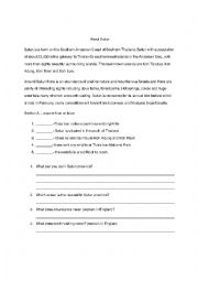 English Worksheet: About Satun Province Thailand Travel Information