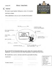 English Worksheet: Lesson plan: About Teachers