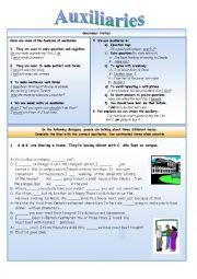 English Worksheet: Auxiliaries