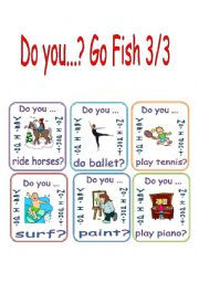 Free Time Activities/Do You/Go Fish 3/3