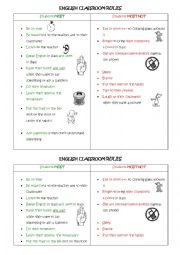 English Worksheet: English Classroom Rules