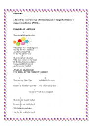 English Worksheet: Limericks