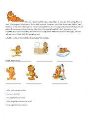 English Worksheet: Garfield:like+ing reading