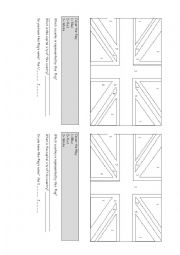 English Worksheet: Union jack to colour