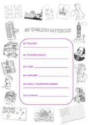 ENGLISH NOTEBOOK COVER