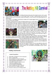 English Worksheet: The Notting Hill Carnival