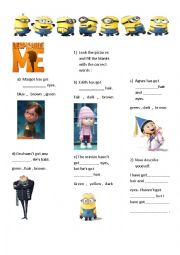 Despicable me - describe the characters