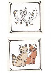 English Worksheet: Animals cards
