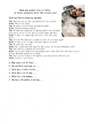 English Worksheet: countable and uncountable and adverbs of quantity