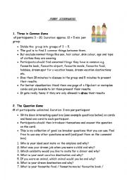 English Worksheet: Icebreakers for all levels