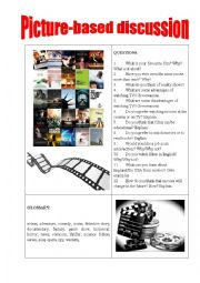 English Worksheet: Picture-based discussion films