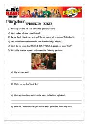 English Worksheet: The Big bang Theory - Friend zone
