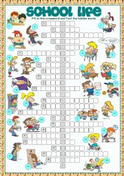 School Life Crossword Puzzle