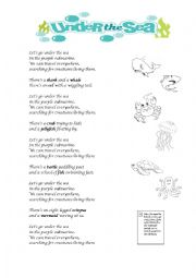 English Worksheet: Under the sea song