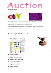 English Worksheet: Auctions - Conversation class (Adults)