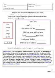 English Worksheet: Test about David Guetta