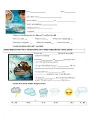 English Worksheet: life of Pi (first part)