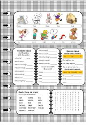 English Worksheet: Book with activities for elementary: p.5 of The Lazy cat sat