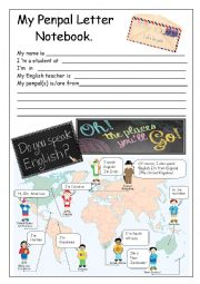 English Worksheet: PENPALS:Everything you need for students first letter!