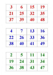 numbers bingo 1-50